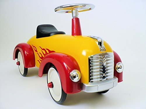 Toddler Hot Dog Speedster Yellow Red Flames (Flames Pedal)