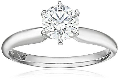 IGI Certified 14k White Gold Lab Created Diamond Solitair...