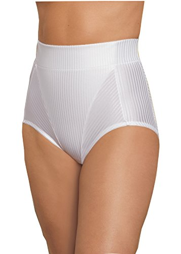 Glamorise Women's Isometric High-Waist Brief Firm Control Shaper 30 Large White