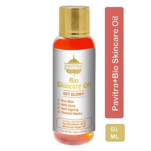 Pavitra Bio Skincare Oil for Pregnancy Stretch Marks with Argan Oil Saffron and Vitamin E