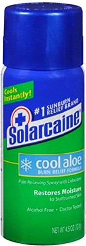 (Solarcaine Cool Aloe Burn Relief Spray 4.50 oz (Pack of 7))