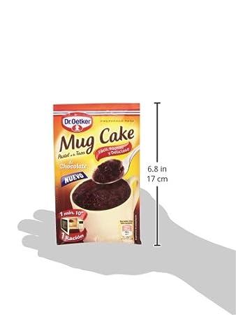 Dr. Oetker Mug Cake Pastel de Chocolate a La Taza - 70 g: Amazon.es: Amazon Pantry