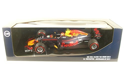 Red 18th Scale - Minichamps Red Bull-Tag Out rb13-2017Car Collectible, 110170033, Blue/Red/Yellow