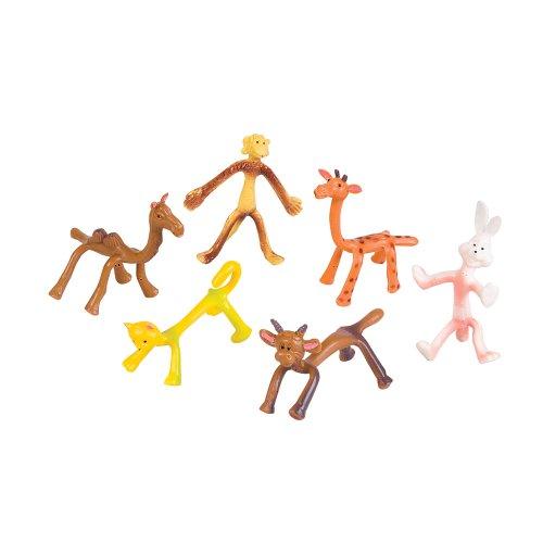 Dozen Toys Bendable Retro Animals