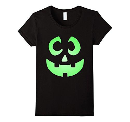 Womens Jack O' Lantern Pumpkin 2017 Halloween Costume T-Shirt Large (Female Green Lantern Halloween Costume)