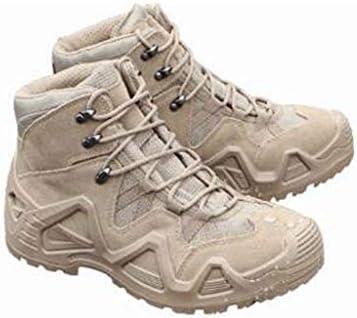 耐摩耗性、伸縮性、通気性アウトドアトレッキングラウンドヘッドスタイルハイトラクショングリップ滑り止めの靴防水ファブリックゴムレースアップトレッキング男性用ブーツをハイキング (色 : 黒, サイズ : 25.5 CM)
