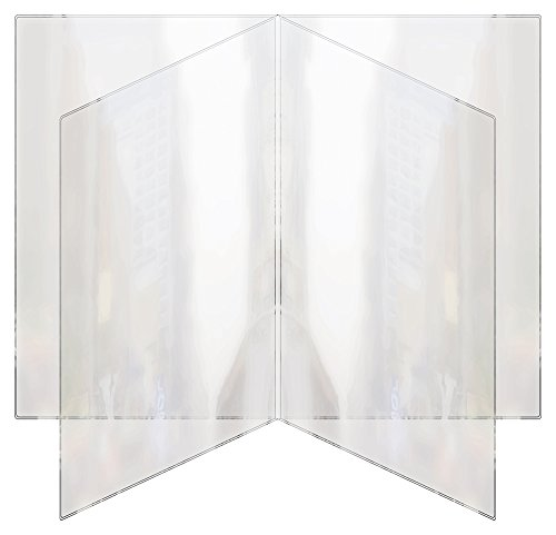 Risch 81 8.5X14 Heat Sealed Vinyl Menu Cover Quad Pocket Booklet, All Clear, 8.5