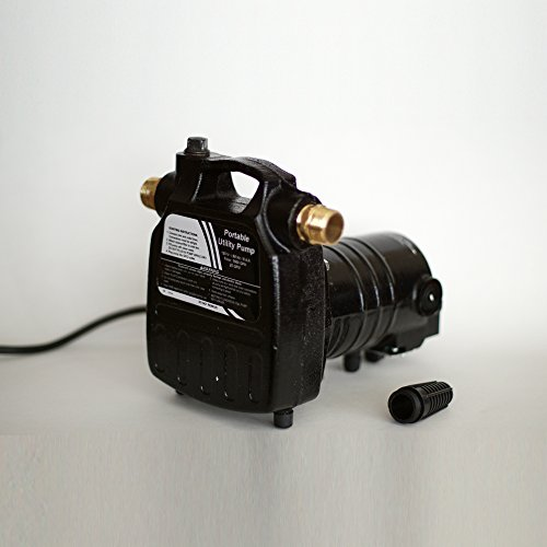HydraPump Pro - 115-volt 1/2HP 1450 GPH Portable Transfer Water Pump with Cast Iron Casing and Brass Connectors