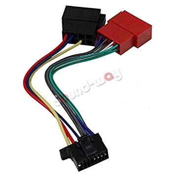 iso wiring adaptor cable for pioneer car radio - 16 pin connector