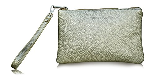 Lucky Love Clutch Wristlet or Crossbody Bag Purse, Leather Wrist Wallet, Can Hold iPhone 7 and 6 Plus