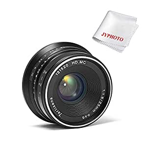 7artisans 25mm F1.8 Manual Focus Prime Fixed Lens for Sony Emount Cameras - Black APS-C