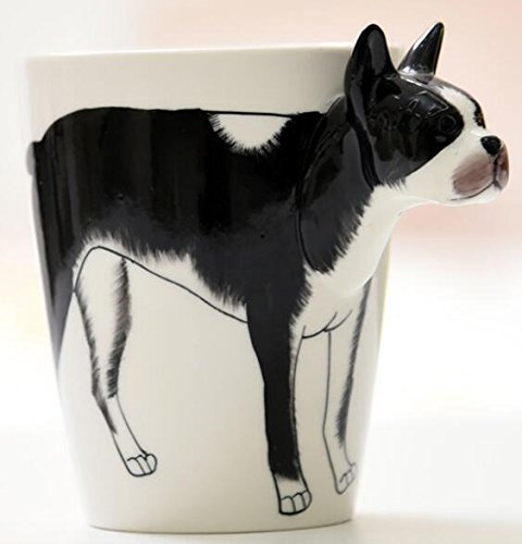- 3D Hand-painted Ceramic Coffee Mugs,Milk Cups (Boston Terrier)-NEWCOM