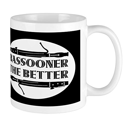 (CafePress Bassooner The Better (H) Stainless Steel Travel Mu Unique Coffee Mug, Coffee Cup)