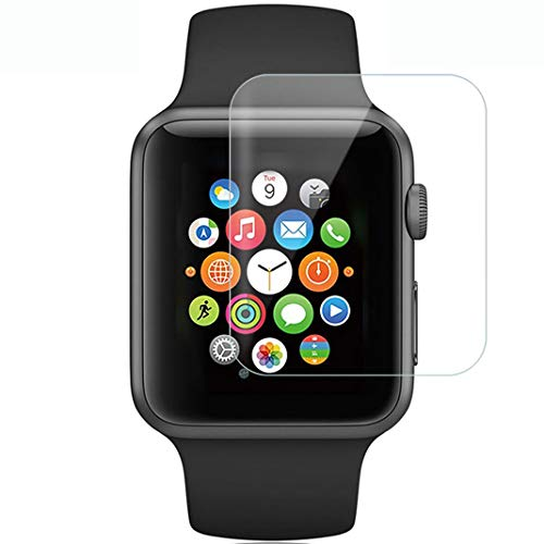6 Pack Apple Watch Screen Protector 38MM, Yemoo iWatch HD Screen Protector Anti-Bubble Scratch-Resistant Guard Cover 3D Hydrogel Protective Soft Film Apple Watch Series 3 2 1 38mm