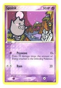 Pokemon - Spoink (62) - EX Crystal (Spoink Common Card)
