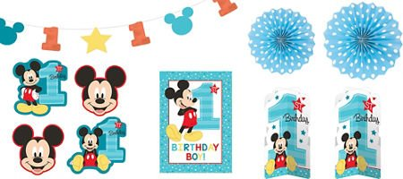 amscan Mickey Mouse 1st Birthday Room Decorating Kit