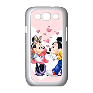 Disney Mickey Mouse Minnie Mouse Samsung Galaxy S3 9 Cell Phone Case White yyfabc_129415
