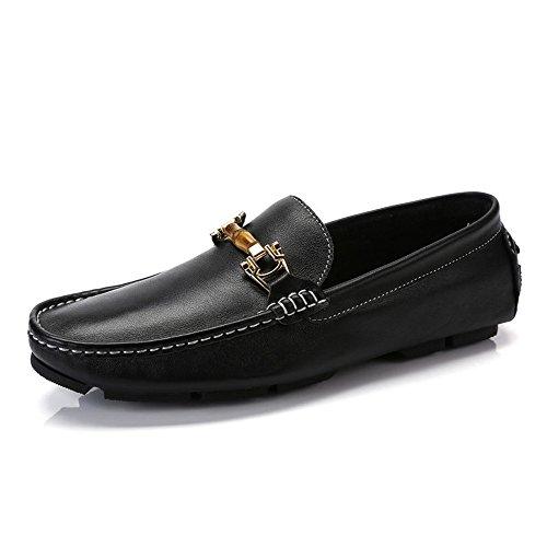 Camel Hommes Mocassin-gommino Pantoufle Conduite Mocassin Mocassins Casual Bateau Chaussures Noir