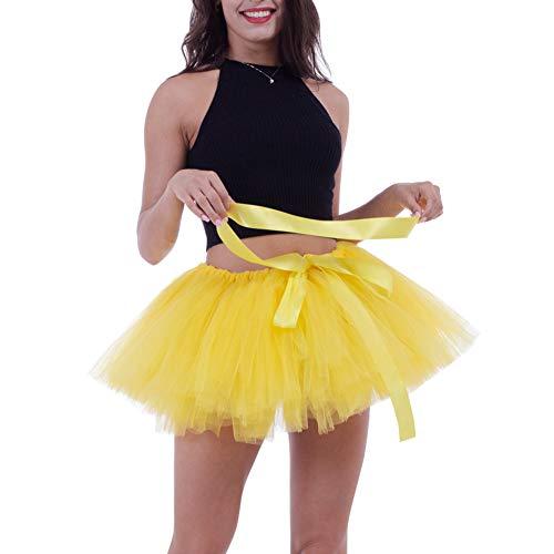 Nouvel Bouffant Jupettes Cadeau Fte Jupon Femme Soire Photo 7 Dguisement Tulle Carnaval Pliss Jupe Taille Cocktail 25CM Extensible 65 Vintage Jupon Ballet Tutu an Longue 100CM Noel AYqTw7A
