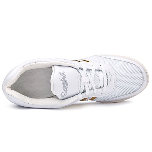 Mas Blanco De Zapatillas Hroyl Malla t08 Zapatilla Baile Deportivas Morden Deporte Modelo Zapatos Adecuada Mujer K FZFtvq5w