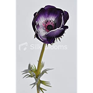 Artificial Purple Anemone Single Stem Loose Flower 58