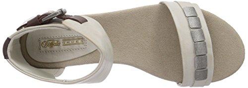Buffalo H152-130 PU P455E P1690J - Sandalias de vestir de material sintético para mujer gris - Grau (GREY 17)