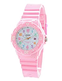 Casio Women's LRW-200H-4B2 Pink Resin Band with White Dial Watch
