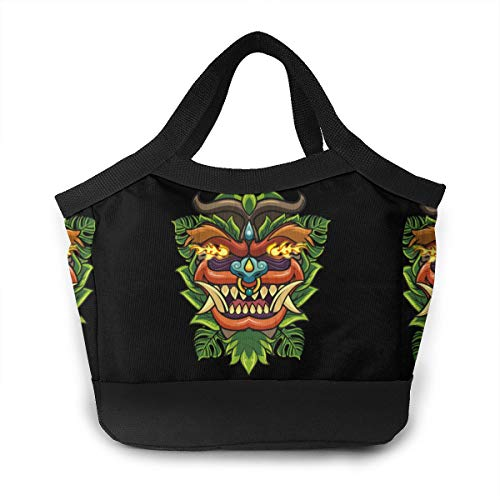(Chinese Lion Dragon Mask New Year School Lunch Box Pail Insulated Pack Accessories Ice Cooler Containers Tote Reusable Shopping Bag Hot Food Bento Warmer Prep Set Kit Decorations )