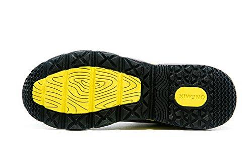 Sneaker Gelb Walkingschuhe onemix Sneaker Schwarz Sportschuhe rhythmus Air Herren Laufschuhe tPYPA8q