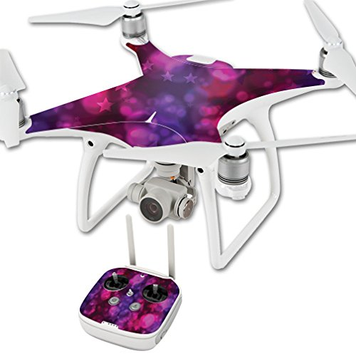 MightySkins Skin for DJI Phantom 4 Quadcopter Drone – Star Power | Protective, Durable, and Unique Vinyl Decal wrap Cover | Easy to Apply, Remove, and Change Styles | Made in The USA