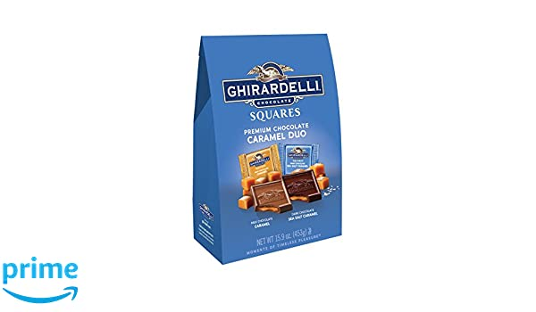Ghirardelli Xl Caramel Duo Bag, 15.9 Ounce (Pack of 6)