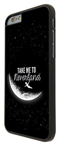 021 - Cool Funky Moon take me to neverland Design iphone 6 Plus / iphone 6 Plus 5.5'' Coque Fashion Trend Case Coque Protection Cover plastique et métal - Noir