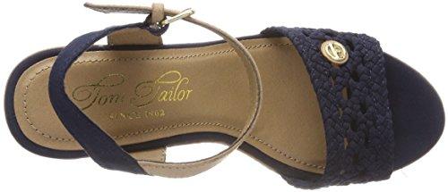 TOM TAILOR 4890805, Sandalia con Pulsera Para Mujer azul (navy)
