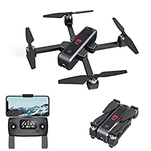 GPS Drone with 2K Camera for Adults,EACHINE EX3 Brushless Motor 5G WiFi Long Flight Time FPV with 2K Camera Optical Flow OLED Switchable Remote Foldable RC Drone Quadcopter RTF