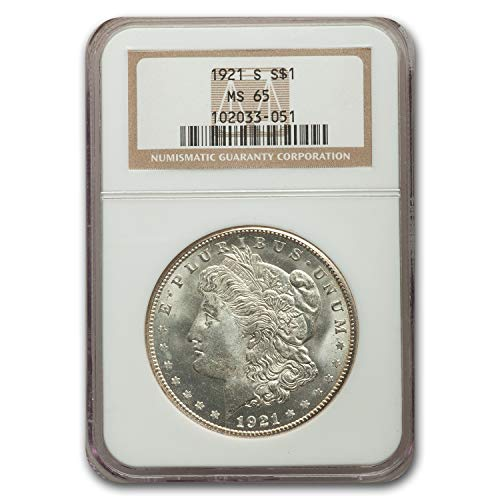1921 S Morgan Dollar MS-65 NGC $1 MS-65 NGC