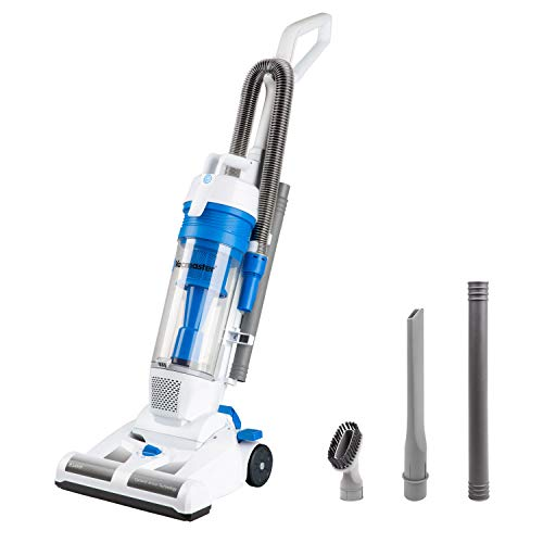 Vacmaster UC0101 Lightweight Bagless Upright Vacuum, White & Blue