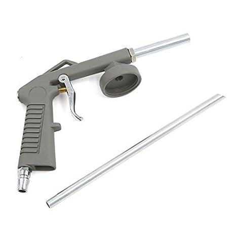 eDealMax gris metálico DE 12 mm Diámetro de la boquilla Sand Blaster Pistola maneja la herramienta