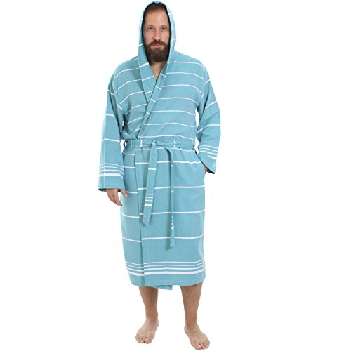 Cacala Hooded Turkish Bathrobe Comfortable