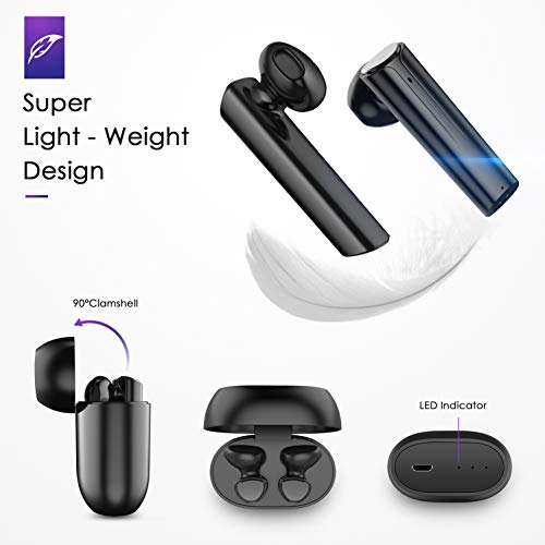 GRC True Wireless Bluetooth Earbuds inEar Stereo Bluetooth 50 Headphones Wireless Earphones 42H