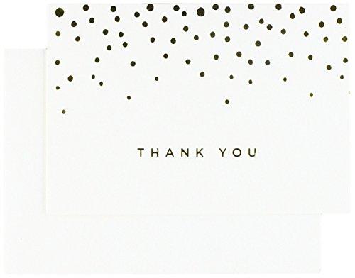 Gold Foil Dots Thank You Cards (Foil Dots)