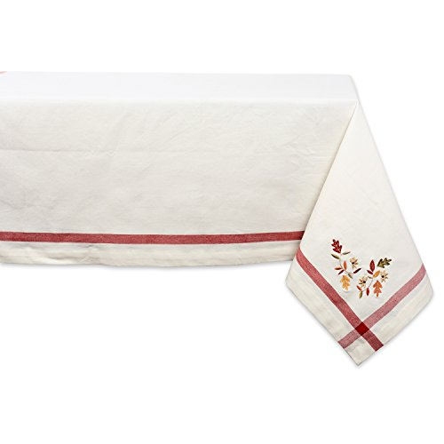 DII Natural Fall Leaves Corner with Border Tablecloth, 60