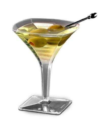 Squares Mini Martini Glass, 2oz, 96 Glasses by EMI Yoshi