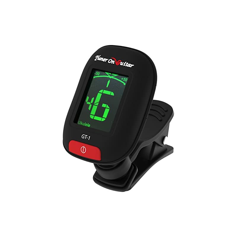 Tuner On Guitar Clip-On Tuner for Guitars, Ukulele, Bass, Violin, Chromatic, 360 Degree Rotating, Electric & Acoustic, Fast & Accurate, Easy to Use, Auto Power Off, Battery Included.