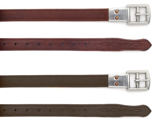 Ovation Covered Clasp End Leathers Dark Brown ()