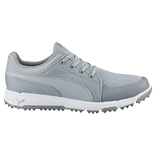 PUMA Men's Grip Sport Golf Shoe, Quarry/White, 7 Medium