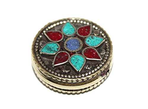 (Handmade Nepalese Tibetan Turquoise Coral Lapis Beads)