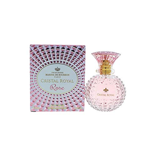 Musk Marine - Cristal Royal Rose by Princesse Marina de Bourbon | Eau de Parfum Spray | Fragrance for Women | Floral and Fruity Scent with Notes of Rose, Lemon, and Pear | 50 mL / 1.7 fl oz