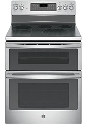 "GE PB980SJSS Profile 30"" Stainless Steel Electric Smoothtop Double Oven Range - Convection"
