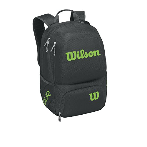 (Wilson Tour V Backpack Tennis Bag, Black/Lime)