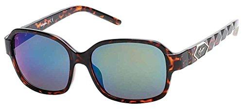 n's Quilted Temple Sunglasses, Tortoise Frame/Green Lens (Harley Davidson Prescription Sunglasses)